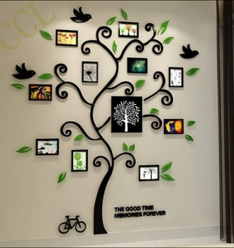 Acrylic 3d frame family tree