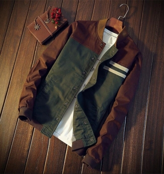 New Autumn Fashion Men Casual Slim Fit Zipper Jacket