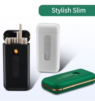 Stylish Cigarette Case with USB Electriv Lighter