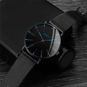 Stainless Steel Ultra Thin Simple Quartz Wrist Watch