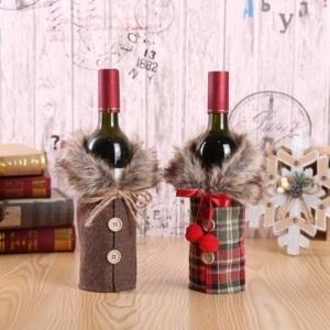 Santa Claus Christmas Wine Bottle Bag